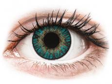 FreshLook ColorBlends Turquoise - met sterkte (2 lenzen)