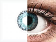 Blauwe Brilliant Blue contactlenzen - Air Optix Colors (2kleurlenzen)