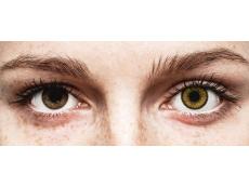 Bruine Dark Hazel lenzen - SofLens Natural Colors - met sterkte (2 kleurlenzen)