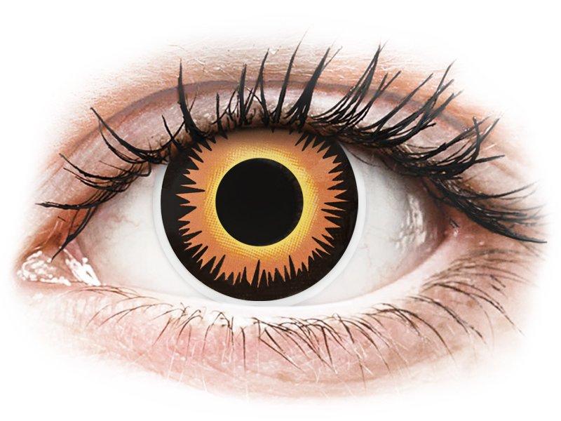 Oranje Orange Werewolf contactlenzen - ColourVue Crazy (2 gekleurde daglenzen)