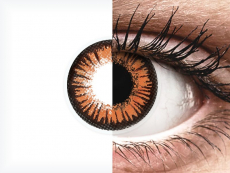 Oranje Twilight contactlenzen - ColourVue Crazy (2 gekleurde daglenzen)
