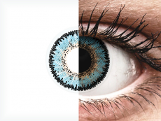 Blauwe Aqua contactlenzen - ColourVUE 3 Tones (2kleurlenzen)
