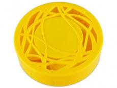 Lenzenhouder kit met spiegel - geel versierd