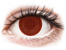 Rode Red Screen contactlenzen - ColourVue Crazy (2 kleurlenzen)