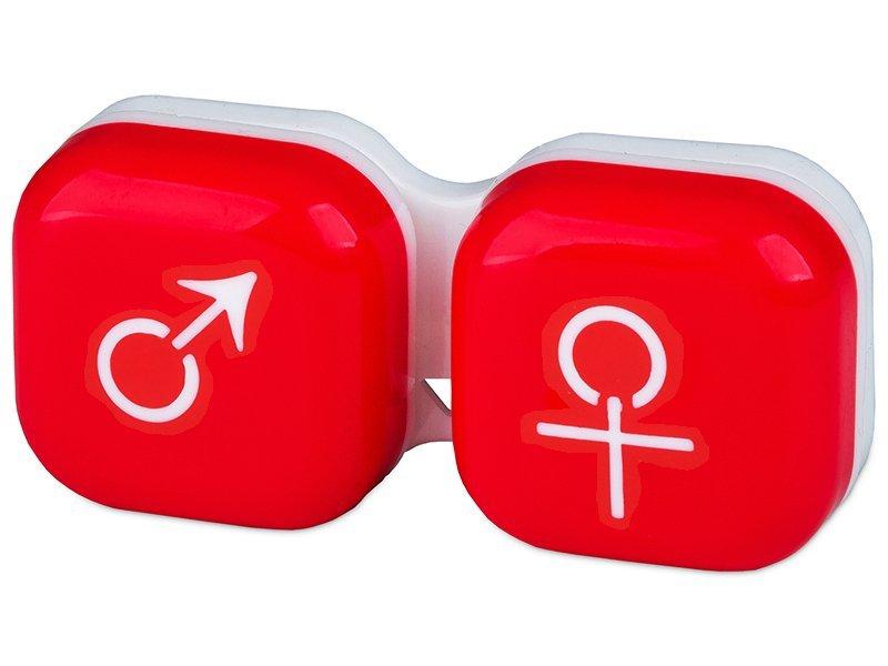 Lenzenhouder Man&Vrouw - Rood