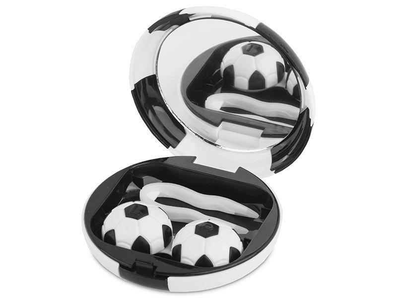 Lenzenhouder kit met spiegel Voetbal - zwart