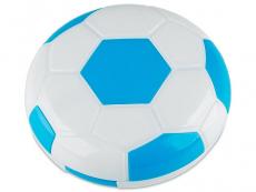 Lenzenhouder kit met spiegel Voetbal - blauw