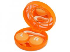 Lenzenhouder kit met spiegel - oranje versierd