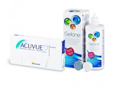 Acuvue 2 (6 lenzen) + Gelone 360 ml