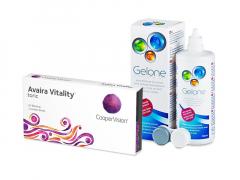 Avaira Vitality Toric (3 lenzen) + Gelone 360 ml