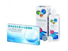 Bausch + Lomb ULTRA (3 lenzen) + Gelone 360 ml