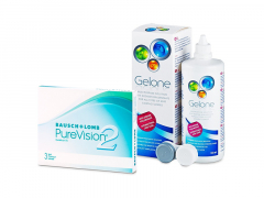 PureVision 2 (3 lenzen) + Gelone 360 ml
