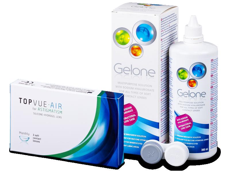 TopVue Air for Astigmatism (3lenzen) + Gelone 360 ml