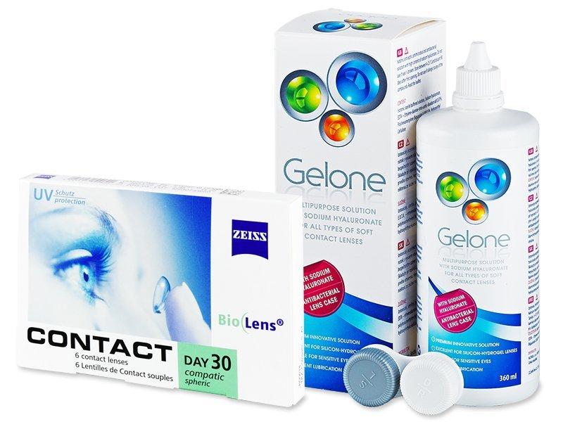Carl Zeiss Contact Day 30 Compatic (6lenzen) +GeloneLenzenvloeistof 360ml