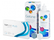 TopVue Monthly PLUS (6 lenzen) + Gelone Solution 360 ml