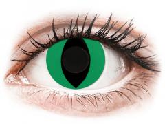 CRAZY LENS - Cat Eye Green - zonder sterkte (2 gekleurde daglenzen)