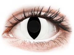 CRAZY LENS - Cat Eye White - zonder sterkte (2 gekleurde daglenzen)