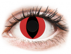 CRAZY LENS - Cat Eye Red - zonder sterkte (2 gekleurde daglenzen)
