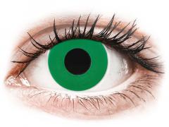 CRAZY LENS - Emerald Green - met sterkte (2 gekleurde daglenzen)