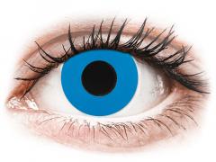 CRAZY LENS - Sky Blue - met sterkte (2 gekleurde daglenzen)