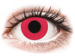 CRAZY LENS - Solid Red - met sterkte (2 gekleurde daglenzen)