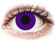 CRAZY LENS - Solid Violet - met sterkte (2 gekleurde daglenzen)