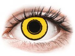 CRAZY LENS - Yellow Twilight - met sterkte (2 gekleurde daglenzen)