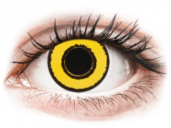 CRAZY LENS - Yellow Twilight - zonder sterkte (2 gekleurde daglenzen)