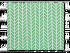 Schoonmaakdoekje voor brillen - groene en witte visgraat
