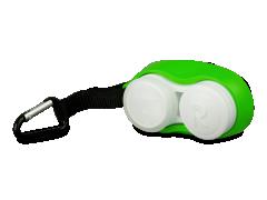 Lenzenhouder met karabijnhaak - groen