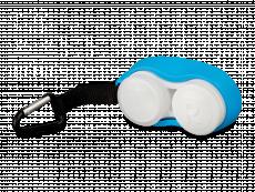Lenzenhouder met karabijnhaak - blauw