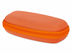 Brillendoos met ritssluiting voor kids - oranje