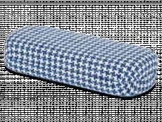 Brillendoos - Haanmotief in blauw en wit
