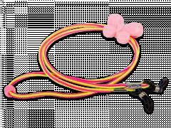 Brillenkoordje in roze en geel – vlinder