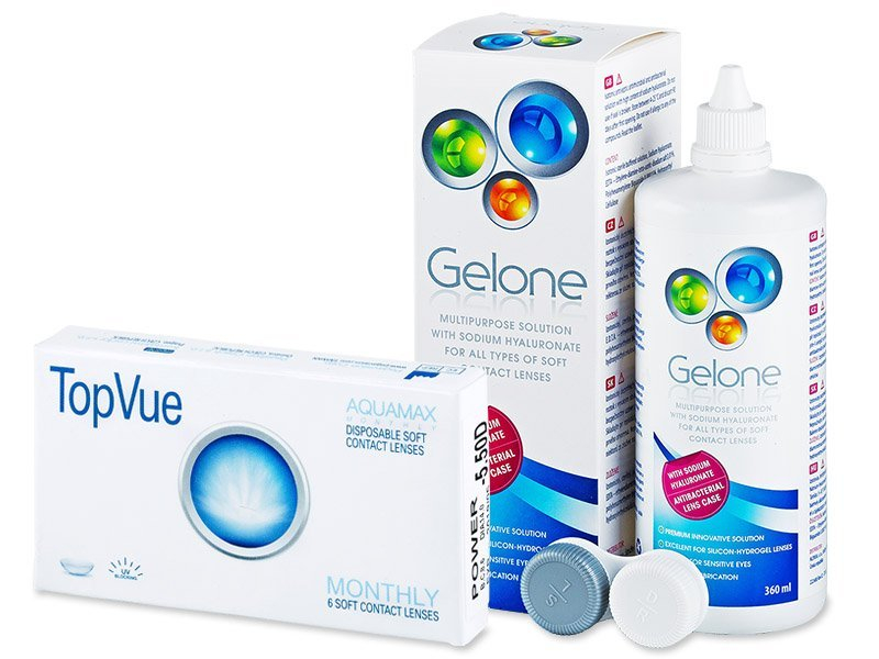 TopVue Monthly (6 lenzen) + Gelone 360 ml