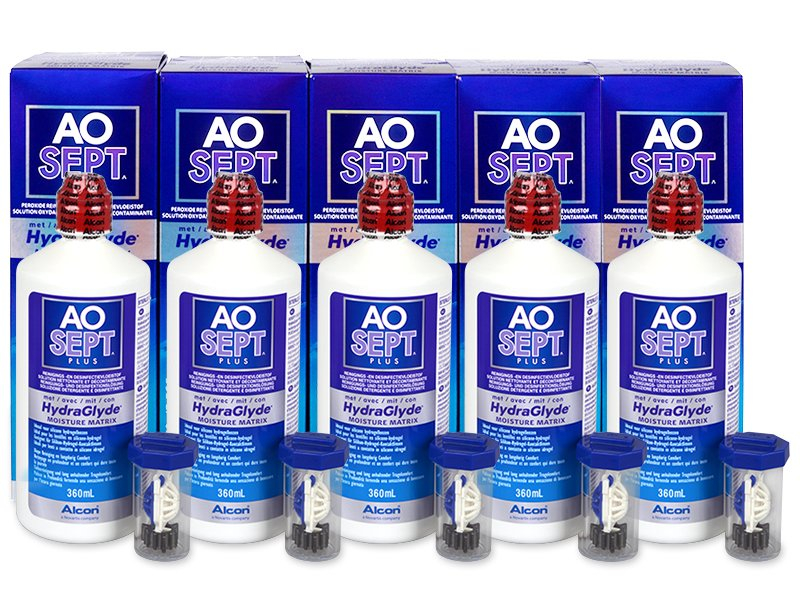 AO SEPT PLUS HydraGlyde Lenzenvloeistof 5x360ml